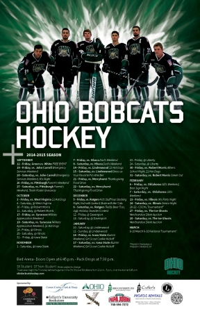 Ohio Bobcats Hockey Team Schedule Poster