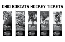 Ohio Bobcats Hockey Ticket Design
