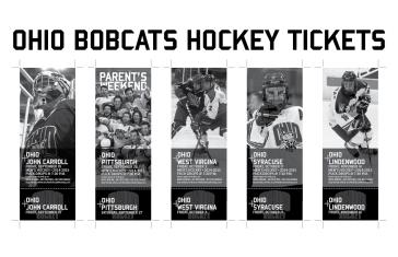 Ohio Bobcats Hockey Ticket Design