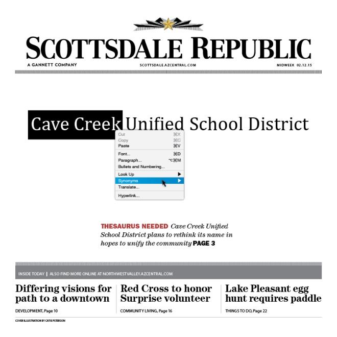 Scottsdale Republic: Cave Creak United School District